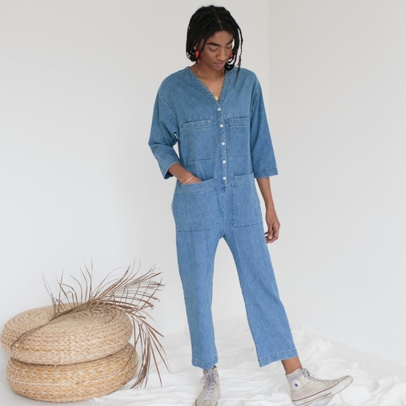 a552582b407 BDG Pants - BDG Denim Coverall Jumpsuit Size L